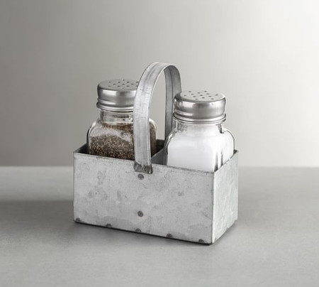 Galvanized Metal Salt & Pepper Shakers