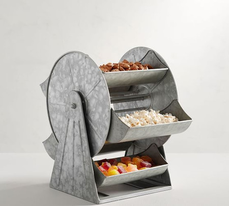 Galvanized Ferris Wheel Snack Server