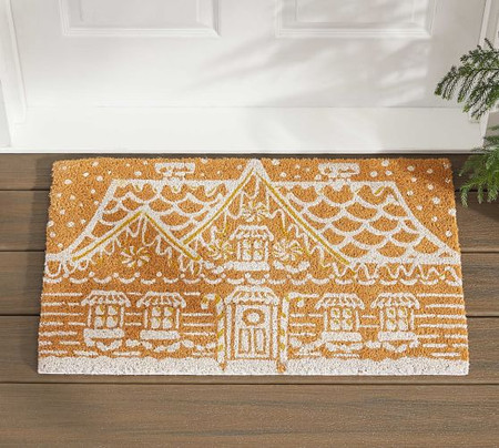 Gingerbread House Doormat