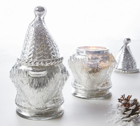 Gnome Mercury Glass Scented Candle - Winter Woods