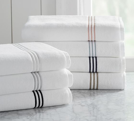 Grand Organic Embroidered Towels