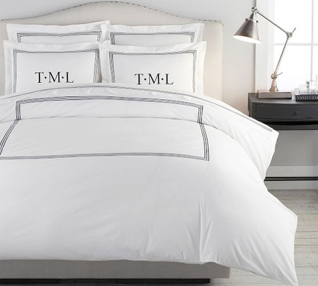 Grand Organic Percale Duvet Cover & Shams