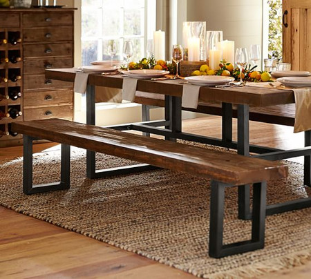 Griffin Reclaimed Wood Dining Bench