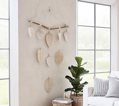 Hanging Decorative Cotton Leaves