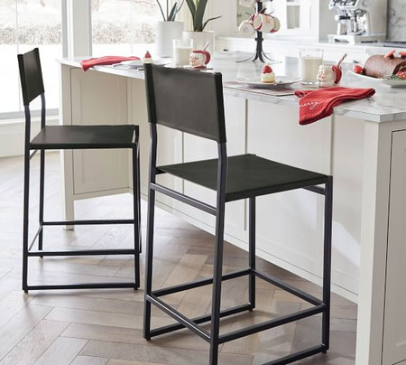 Hardy Leather Bar & Counter Stools