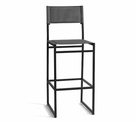 Hardy Outdoor Barstool, Gray