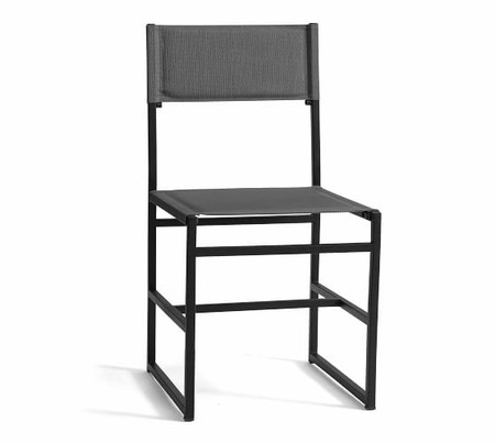 Hardy Outdoor Dining Chair, Gray