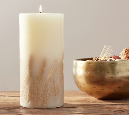 Harvest Spice Scented Pillar Candle