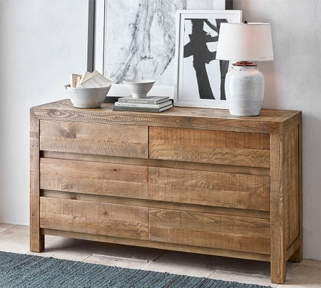 Hensley Reclaimed Wood 6-Drawer Dresser