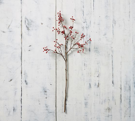 Faux Berry Branches - Red