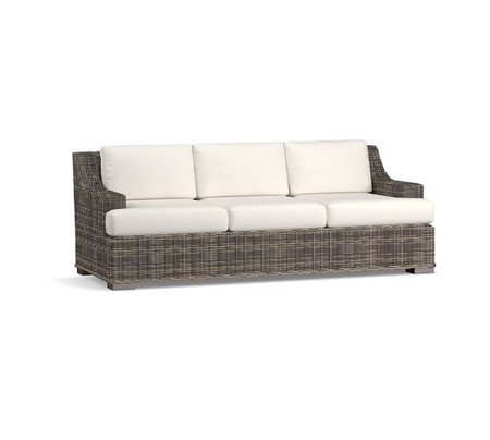 Huntington All-Weather Wicker Slope Arm 84'' Sofa