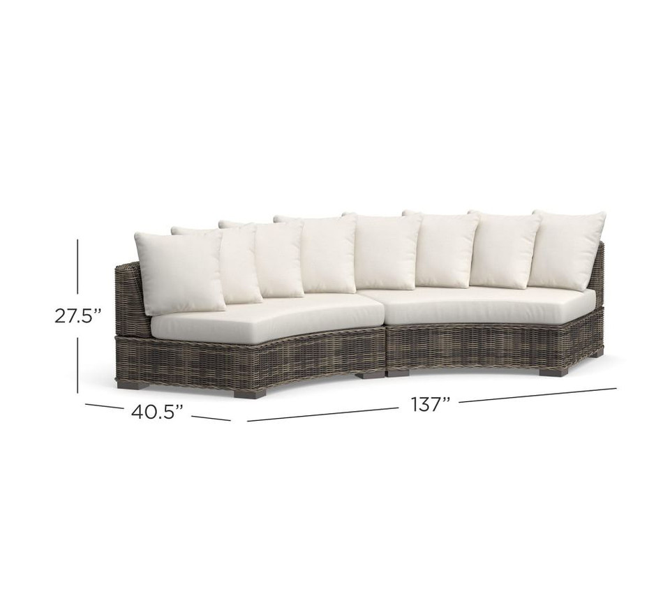 Huntington All-Weather Wicker Rounded Sectional Set