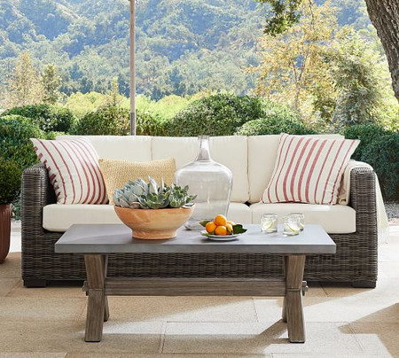 Huntington All-Weather Wicker Square Arm 82.25'' Sofa