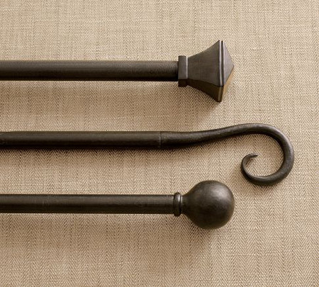 Cast-Iron Drape Rod & Wall Bracket