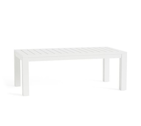 Indio Metal Coffee Table, White
