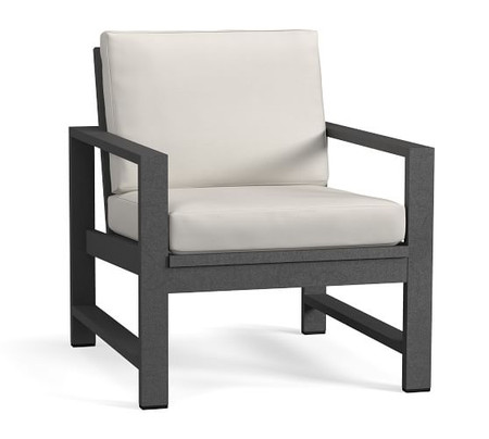 Indio Metal Occasional Chair Frame, Slate