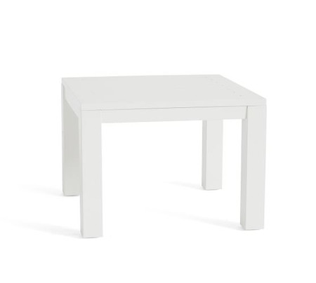 Indio Metal Side Table, White
