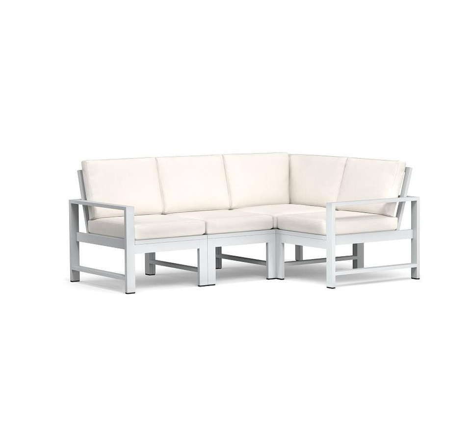 Indio Metal Sectional Frame Set, White