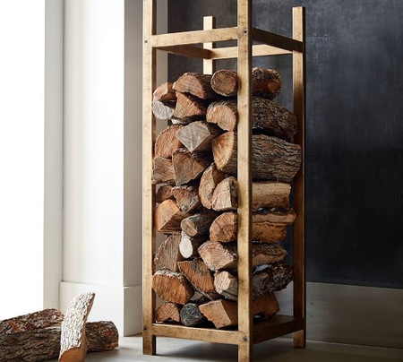 Industrial Fireplace Log Holder Tower
