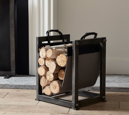 Industrial Fireplace Log Holder