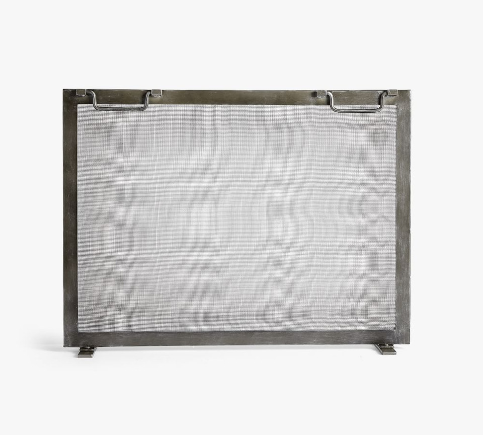 Industrial Fireplace Screen