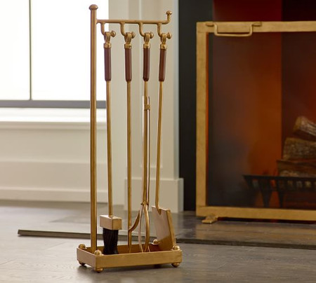 Industrial Fireplace Tool Set