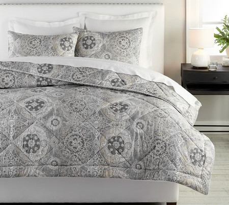 Jacquelyn Printed Percale Comforter & Shams