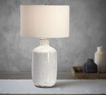 Jamie Young Bethany Ceramic Column Table Lamp