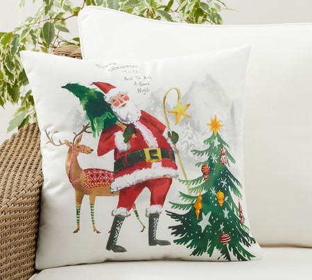 Jolly Santa Indoor/Outdoor Pillow