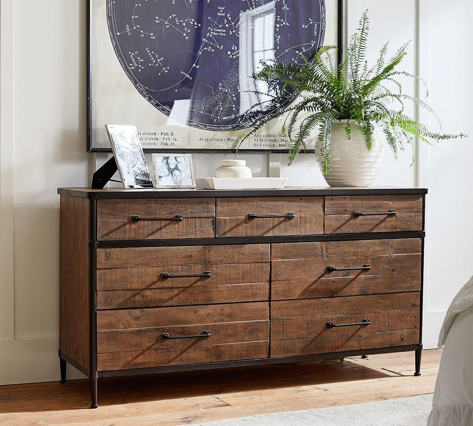 Juno Reclaimed Wood Extra Wide Dresser Pottery Barn Canada
