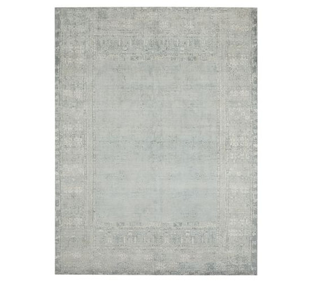 Kailee Handwoven Wool Rug - Porcelain Blue