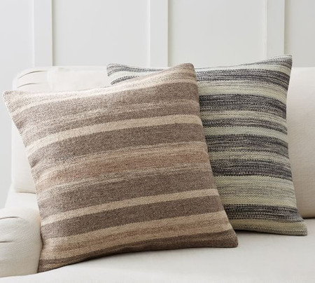 Kaye Textured Striped Pillow Cover