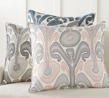 Kenmare Ikat Embroidered Pillow Covers