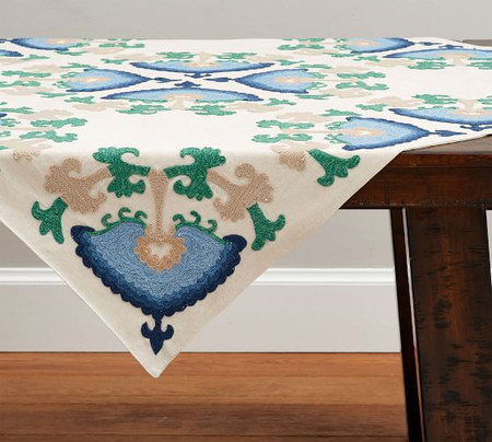 Kiernan Embroidered Floral Table Throw