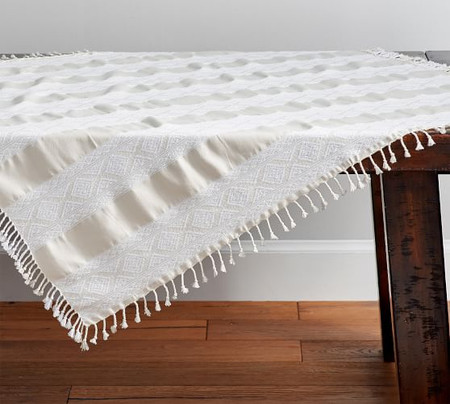 La Jolla Jacquard Table Throw