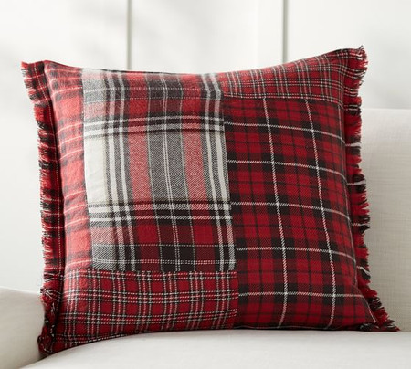 Landon Patchwork Plaid Pillow Cover