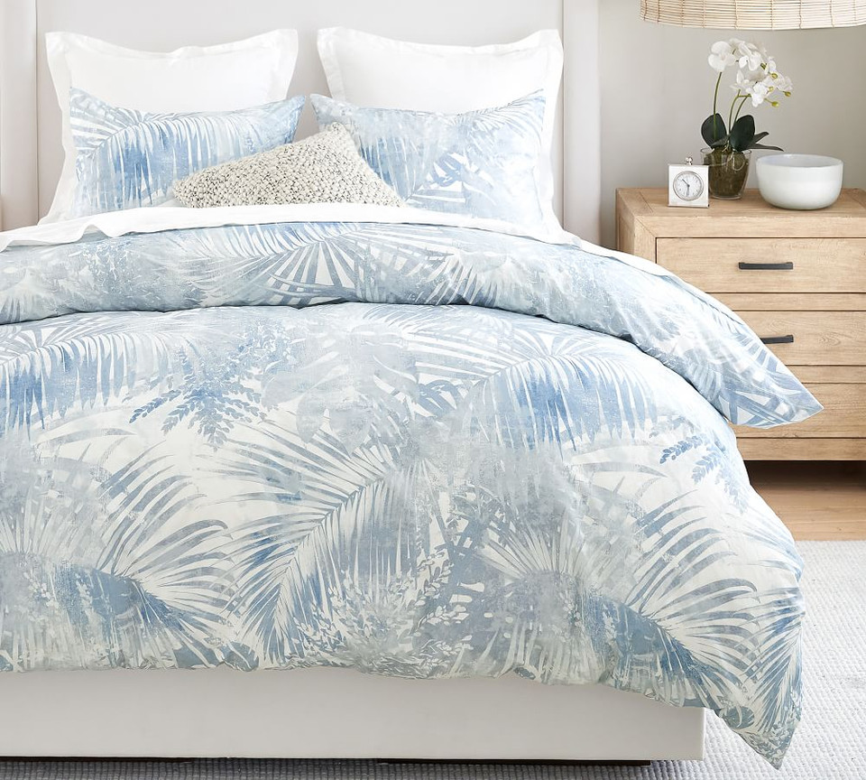 Layla Palm Organic Cotton Duvet Cover & Shams