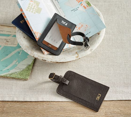 Grant Leather Luggage Tag