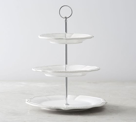 Leila Scalloped Three Tiered Stand