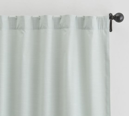 Lianna TENCEL™ Pole-Pocket Curtain - Icy Blue