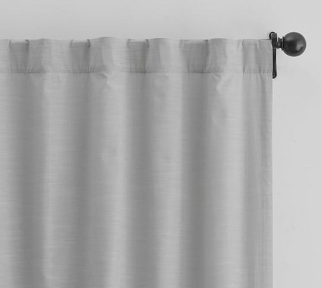 Lianna TENCEL™ Pole-Pocket Curtain - Platinum