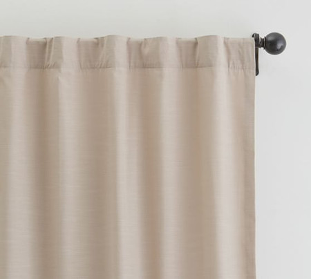 Lianna TENCEL™ Pole-Pocket Curtain - Taupe