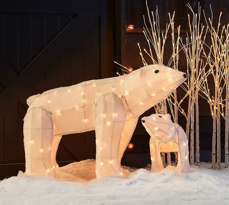 Standing Light Up Polar Bears