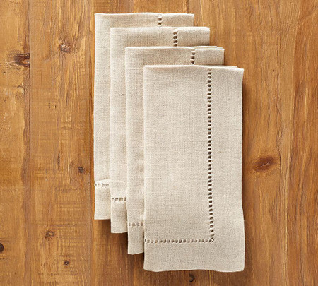 Linen Hemstitch Napkin, Set of 4