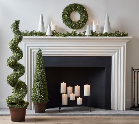 Lit Boxwood Home Decor Collection
