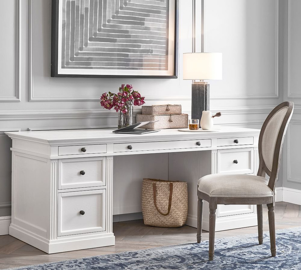 Livingston 75 Executive Desk Pottery Barn Ca