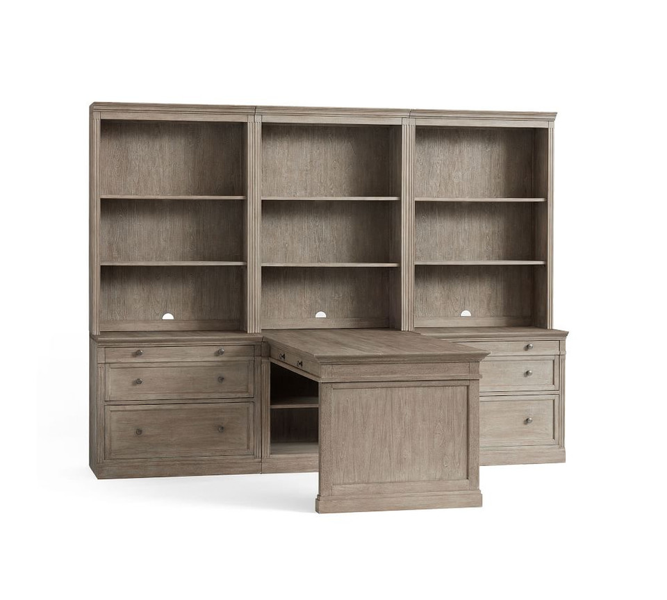 Livingston 105'' Peninsula Desk Office Suite