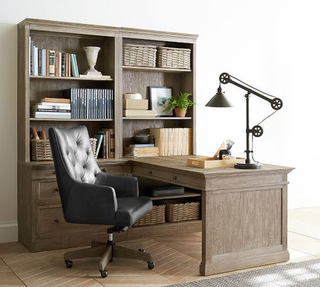 Livingston 70'' Peninsula Desk Office Suite