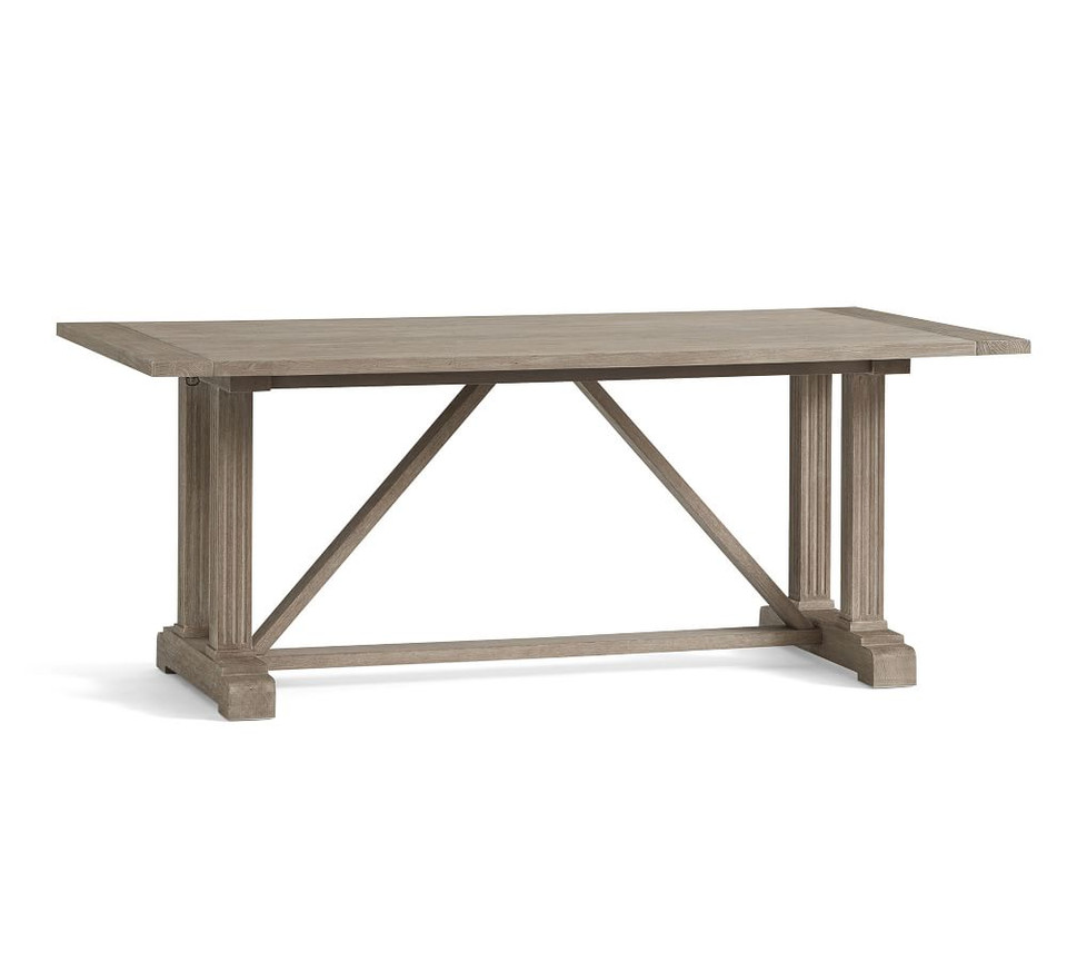 Livingston Extending Dining Table, Gray Wash
