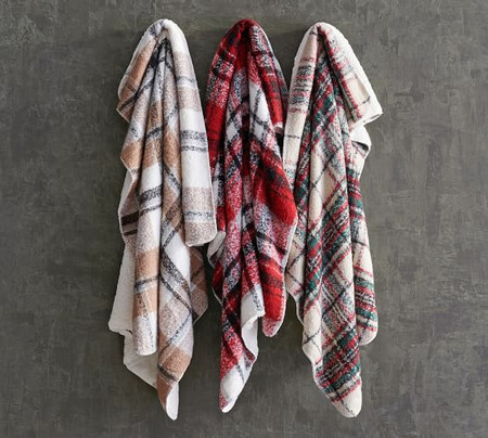 Lodge Plaid Sherpa Back Throws